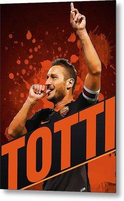 Totti Metal Print by Semih Yurdabak