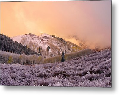 Touch Of Winter Metal Print by Chad Dutson