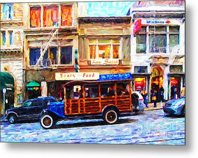 Touring The Streets Of San Francisco . Photo Artwork Metal Print by Wingsdomain Art and Photography