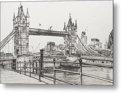 Tower Bridge Metal Print by Vincent Alexander Booth