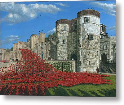 Tower Of London Poppies - Blood Swept Lands And Seas Of Red  Metal Print by Richard Harpum
