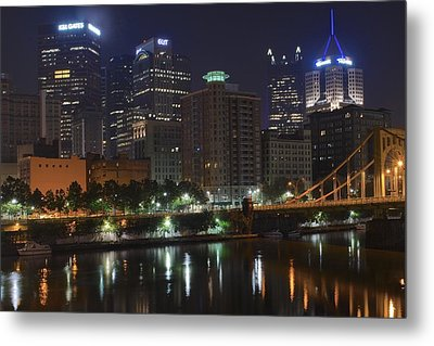 Towering Over The River Metal Print by Frozen in Time Fine Art Photography