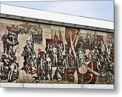 Traces Of Socialist Idealism In Dresden Metal Print by Christine Till
