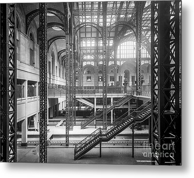 Track Level And Concourses Pennsylvania Station New York Metal Print by Russ Brown