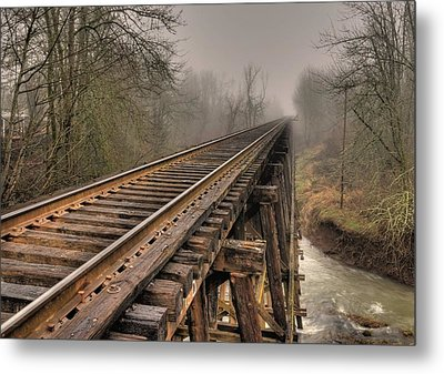 Track To Some Where Metal Print by Peter Schumacher