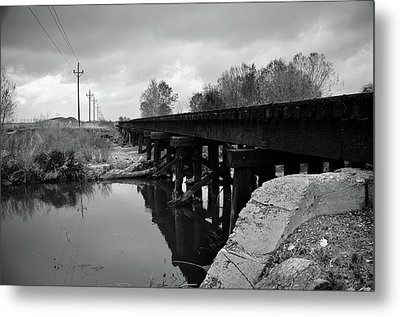 Tracks Metal Print by Matthew Angelo