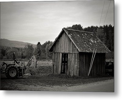 Tractor And Shed Metal Print by Mandy Wiltse