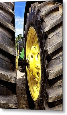 Tractor Tires Detail Metal Print by Ann Powell