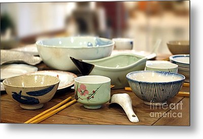 Traditional Chinese Dinner Table Metal Print by Yali Shi