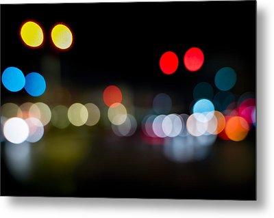 Traffic Lights Number 14 Metal Print by Steve Gadomski