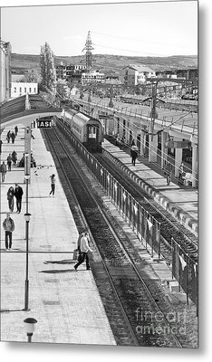 Trainstation Metal Print by Gabriela Insuratelu