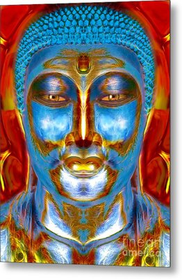 Tranquil Buddha Metal Print by Khalil Houri