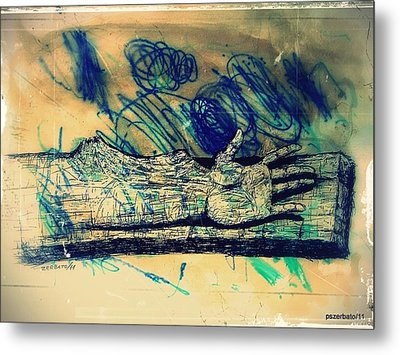 Transforming A Piece Of Wood In Man Metal Print by Paulo Zerbato