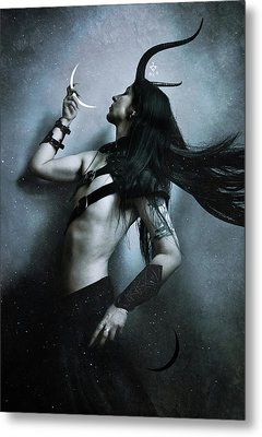 Union Of Opposites Metal Print by Cambion Art