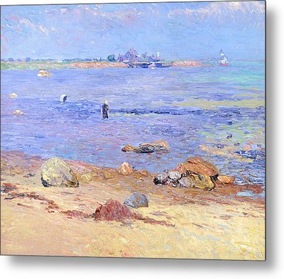 Treading Clams At Wickford Metal Print by William James Glackens