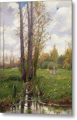 Tree Beside Water  Metal Print by Ernest Le Villain