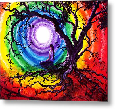 Tree Of Life Meditation Metal Print by Laura Iverson