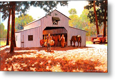 Treece Barn Metal Print by Kevin Lawrence Leveque