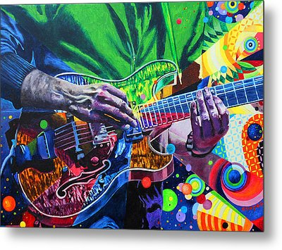Trey Anastasio 4 Metal Print by Kevin J Cooper Artwork