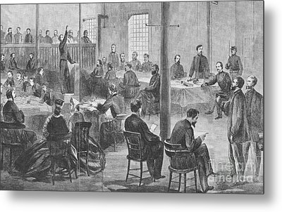 Trial Of Lincoln Assassins, 1865 Metal Print by Photo Researchers
