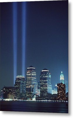 Tribute Of Light Represents The Fallen Metal Print by Everett