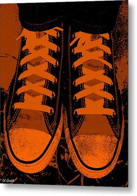 Trick Or Treat Feet Metal Print by Ed Smith