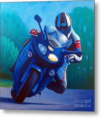 Triumph Sprint - Franklin Canyon  Metal Print by Brian  Commerford