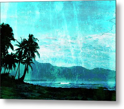 Tropical Beach Metal Print by Skip Nall
