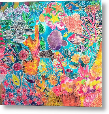 Tropical Coral Metal Print by Hilary Simon