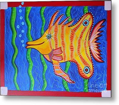 Tropical Fish Metal Print by Claudia Tuli