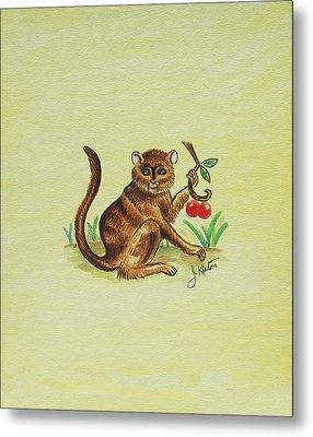 Tropical Monkey 1 Metal Print by John Keaton