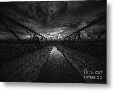 Troubled Bridge Metal Print by Ian McGregor
