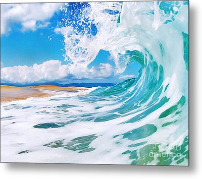 True Blue Metal Print by Paul Topp
