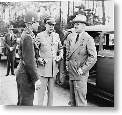 Truman Eisenhower And Hickey  Metal Print by War Is Hell Store
