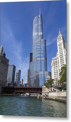 Trump Tower Chicago Metal Print by Adam Romanowicz