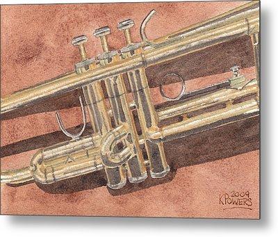 Trumpet Metal Print by Ken Powers