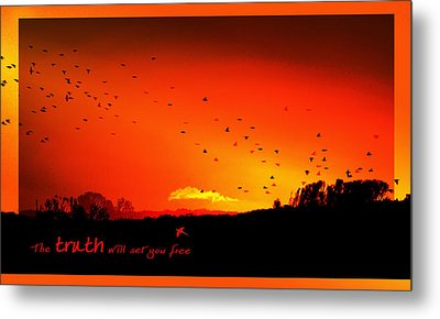 Truth Metal Print by Holly Kempe