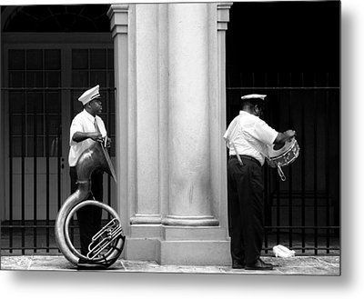 Tuba Player And Drummer Metal Print by Todd Fox