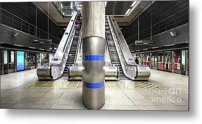Tube Station Metal Print by Svetlana Sewell