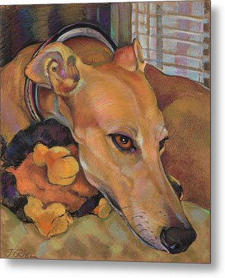 Greyhound Metal Print by Jane Oriel