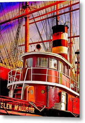 Tugboat Helen Mcallister Metal Print by Chris Lord