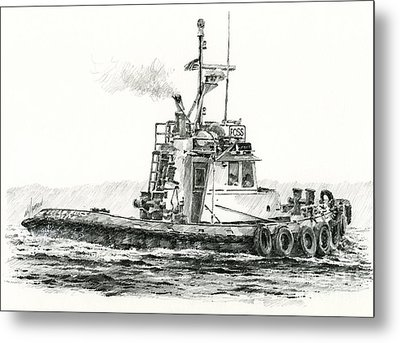 Tugboat Kelly Foss Metal Print by James Williamson