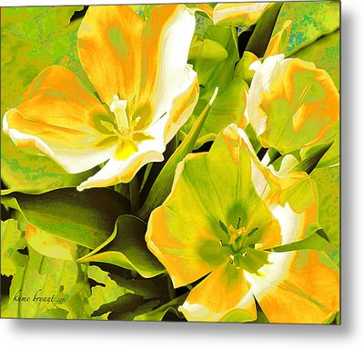 Tulip Kisses Abstract 10 Metal Print by Kume Bryant