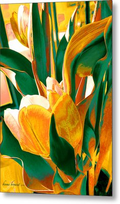 Tulip Kisses Abstract 5 Metal Print by Kume Bryant