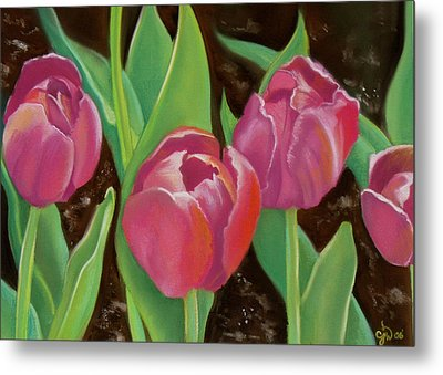 Tulips Metal Print by Candice Wright