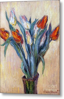 Tulips Metal Print by Claude Monet