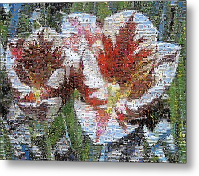 Tulips In Springtime Photomosaic Metal Print by Michelle Calkins