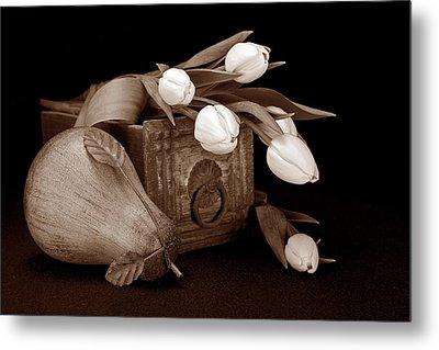 Tulips With Pear II Metal Print by Tom Mc Nemar