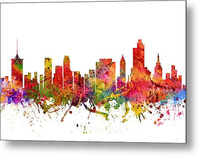 Tulsa Cityscape 08 Metal Print by Aged Pixel