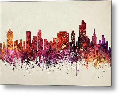 Tulsa Cityscape 09 Metal Print by Aged Pixel